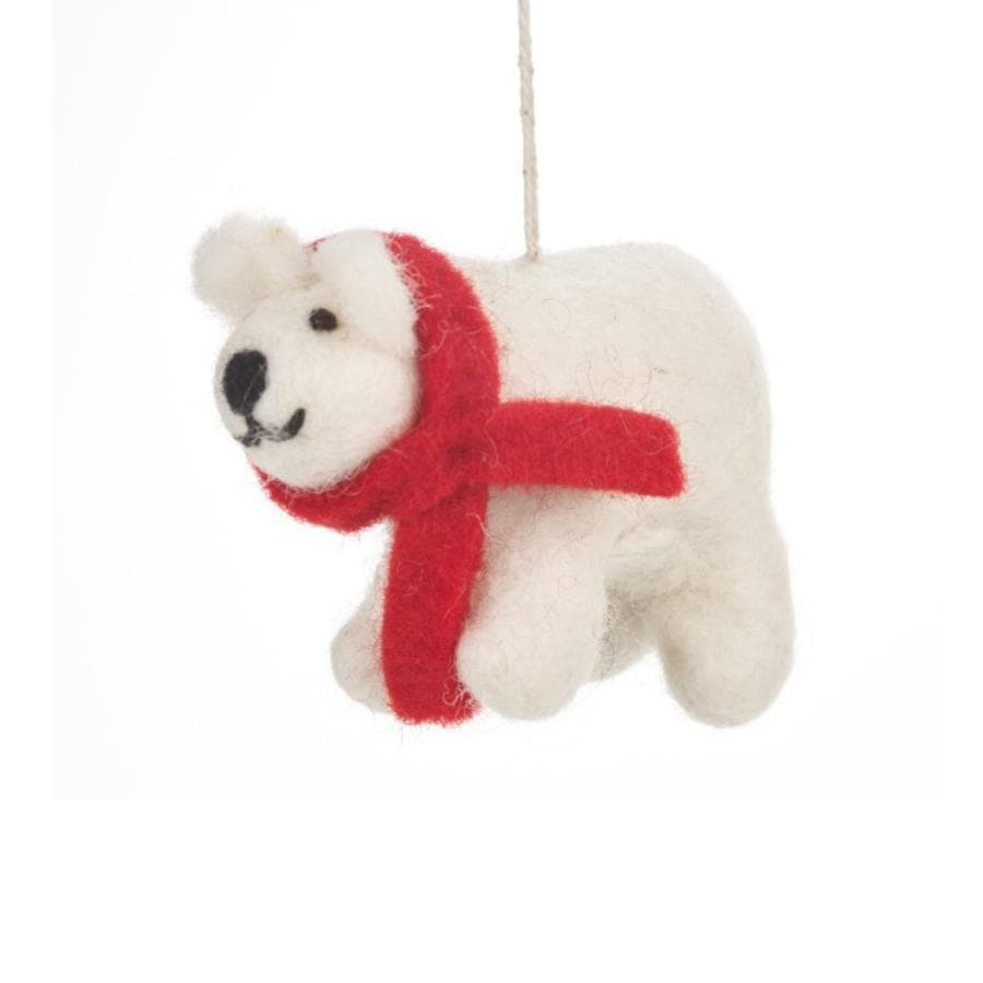 Felt Christmas Polar Bear Decoration 5
