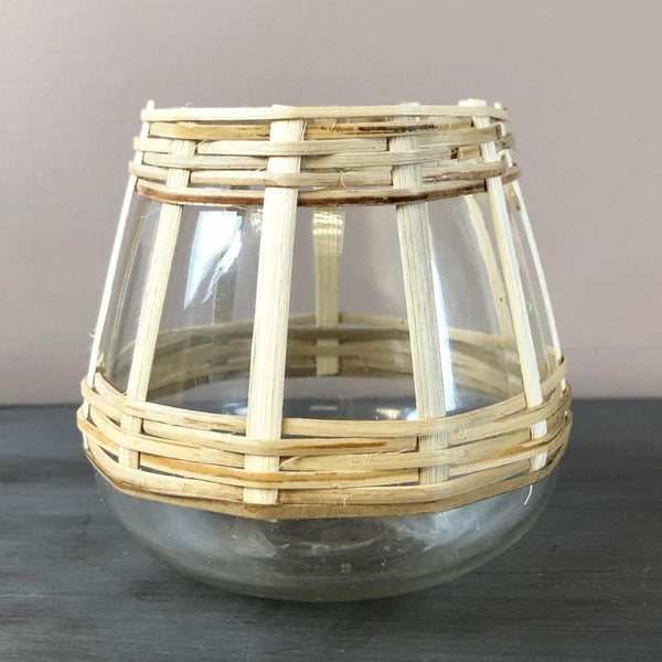 Woven Bamboo Tea Light Holder at the Farthing