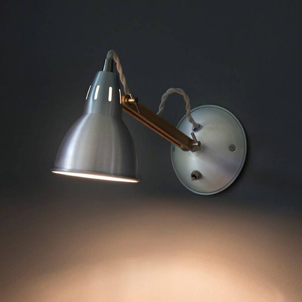 Raw Aluminium Bermondsey Wall Light - The Farthing