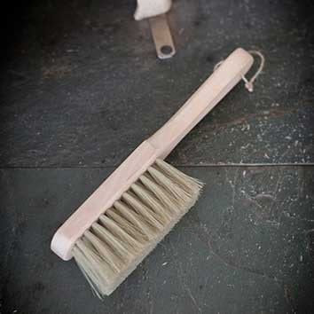 Rustic Oak Hearth Brush - The Farthing