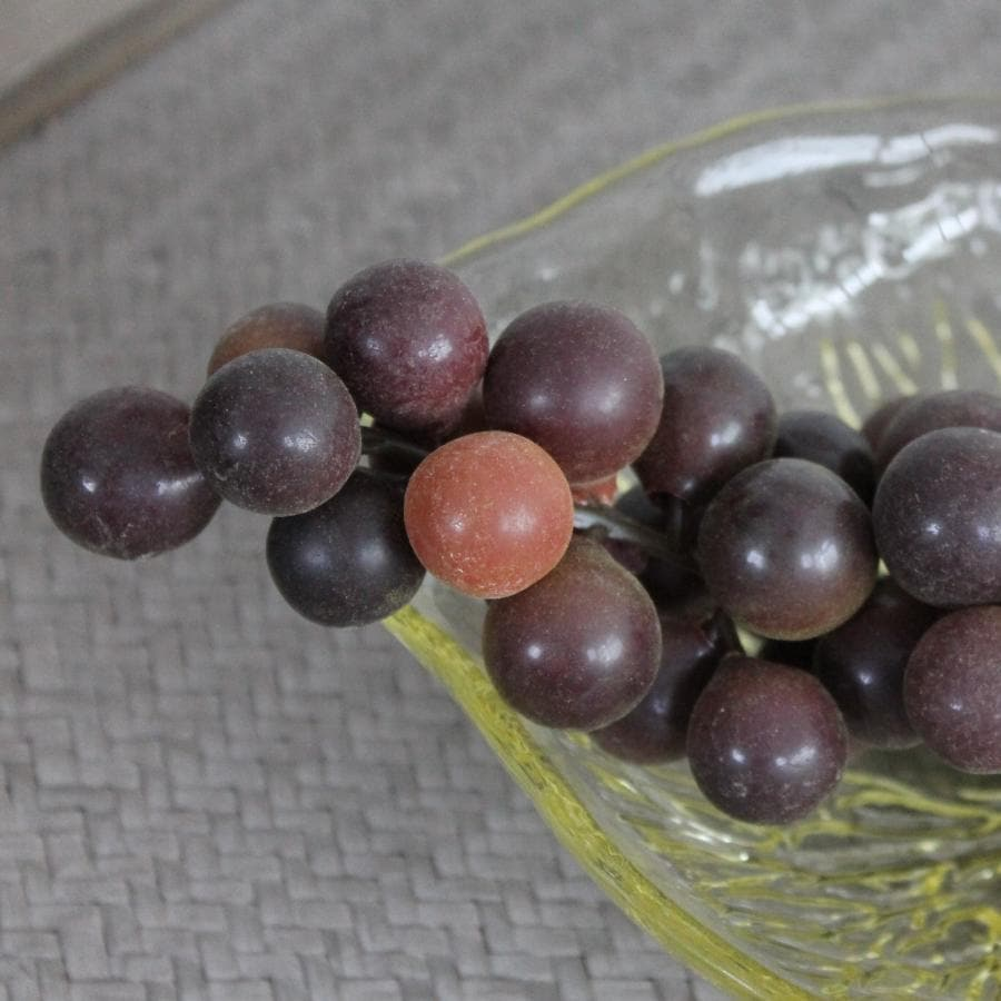 Bunch of Decorative Faux Red Grapes at the Farthing