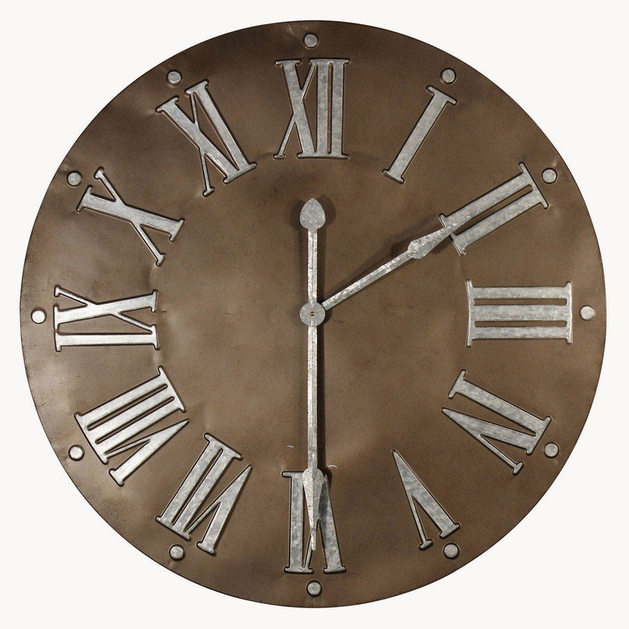 Large Industrial Metal Wall Clock