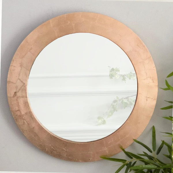 Round Rose Gold Wall Mirror 1