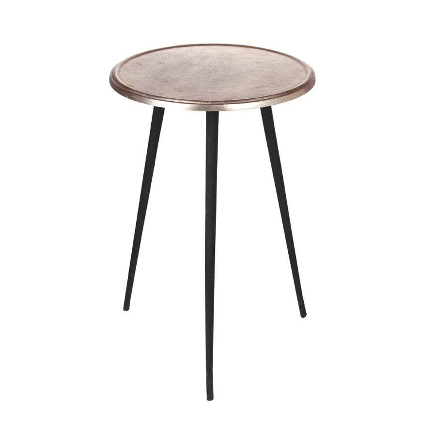Rose Gold Top Metal Side Table