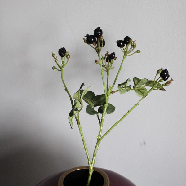 Faux Black Rosehip Stem