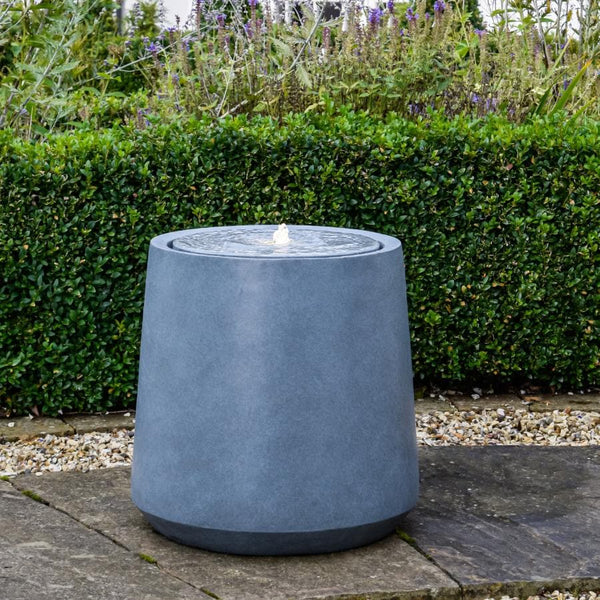 Round Cement Effect Water Feature