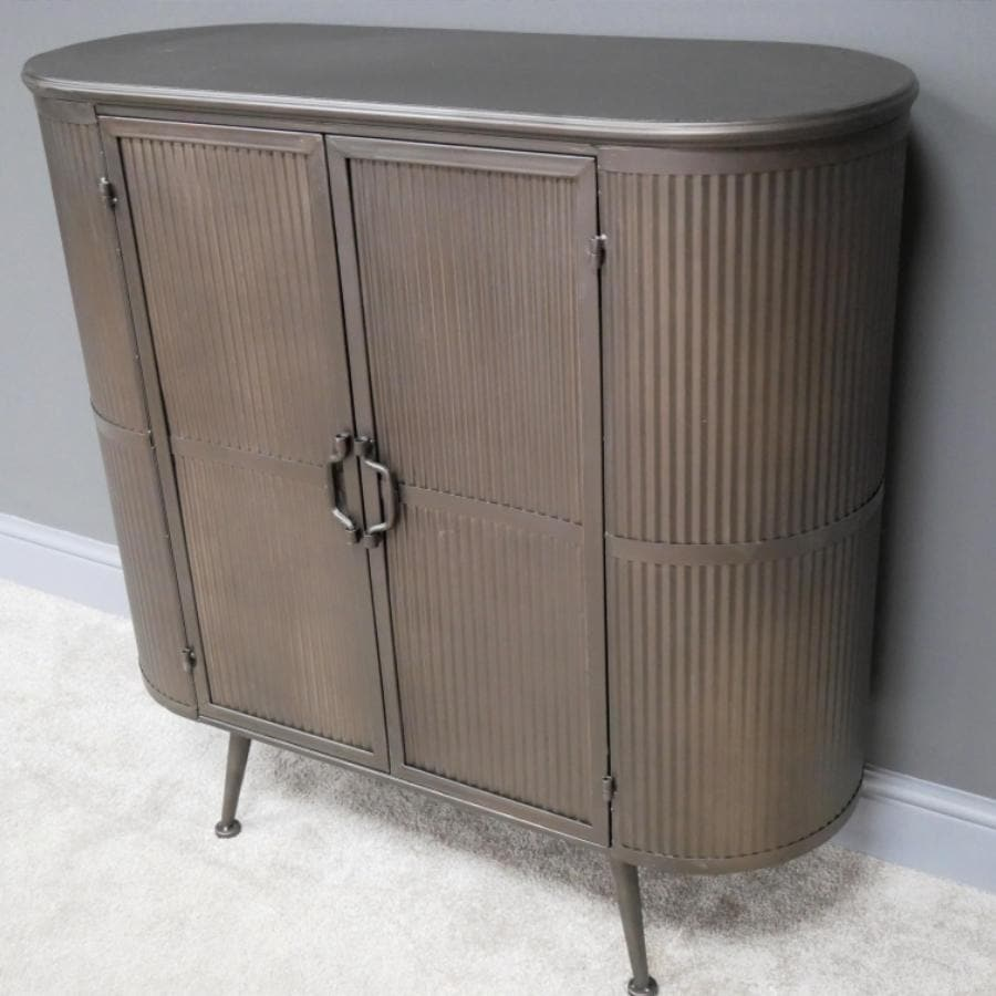 Rounded Edge Metal Storage Cabinet | The Farthing