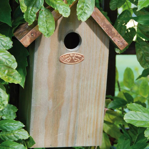 Rustic Copper Roof Bird House - The Farthing