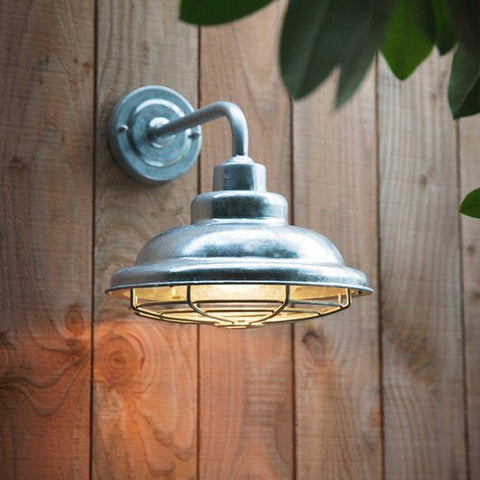 Mariner Galvanised Exterior Wall Light - The Farthing
