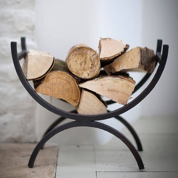 Attractive Wrought Iron Log Holder - The Farthing  - 2