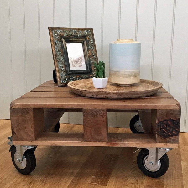 Unique Pallet Coffee Table with Wheels - The Farthing
