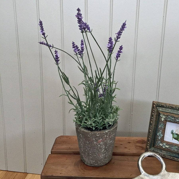 Elegant Potted Faux Lavender - The Farthing