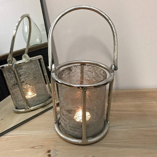Rustic textured Candle Lantern - The Farthing