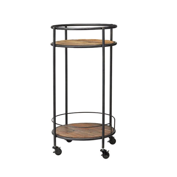 Industrial Round Trolley Side Table at the Farthing