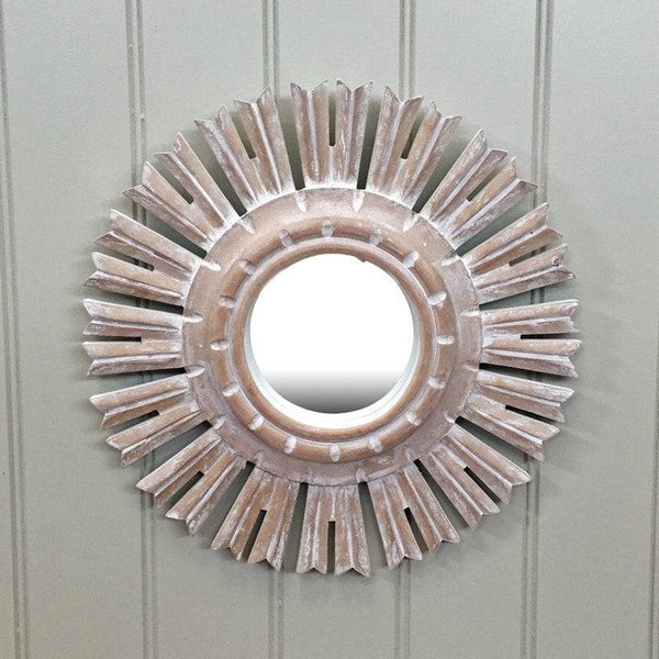 Small Carved Sun Dance Wall Mirror - The Farthing