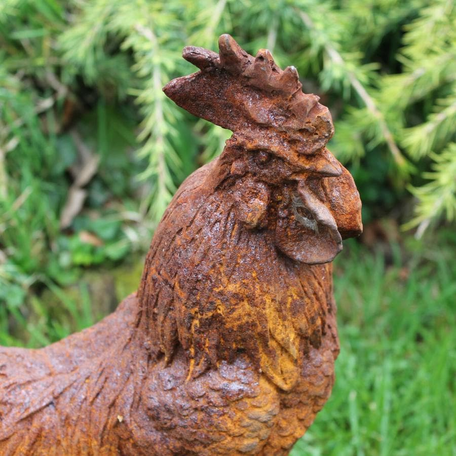 Rusty Red Cast Iron Cockerel at the Farthing 1