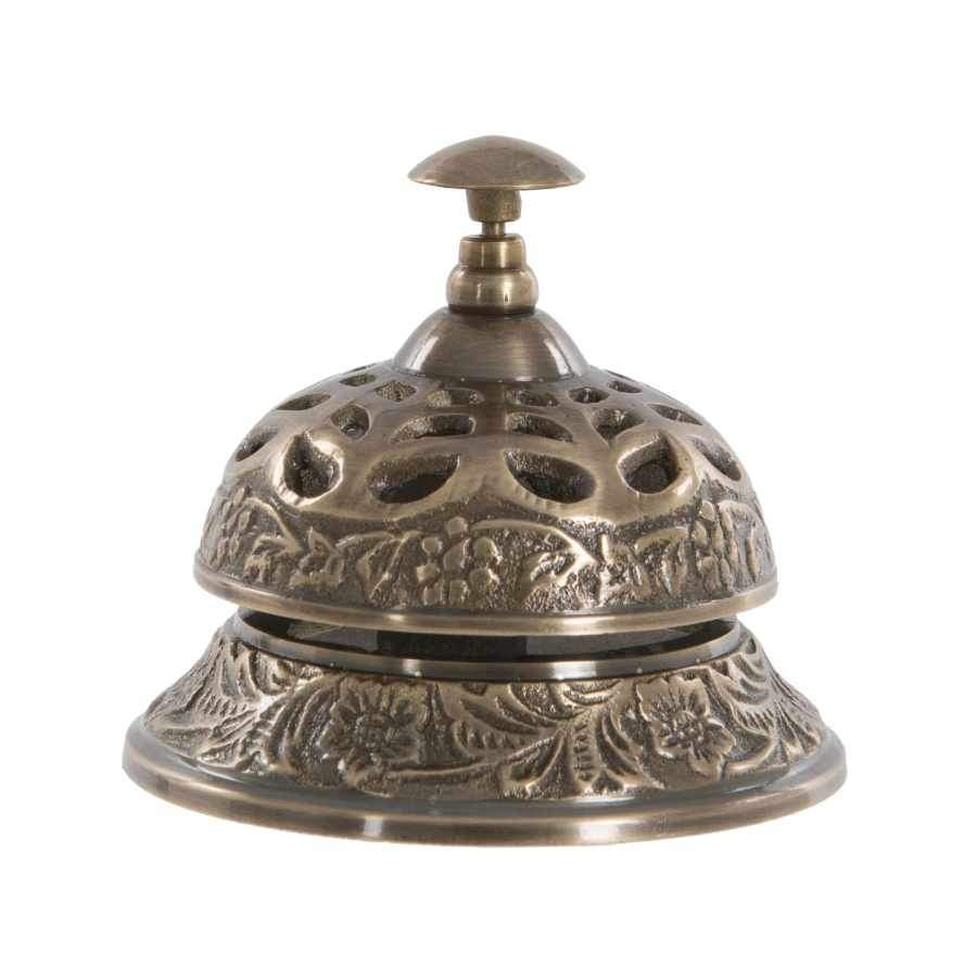 Antiqued Brass Service Bell
