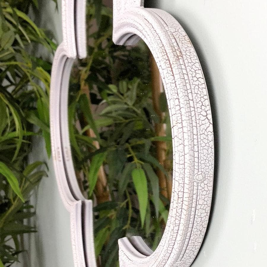 Distressed White Alhambra Wall Mirror | The Farthing