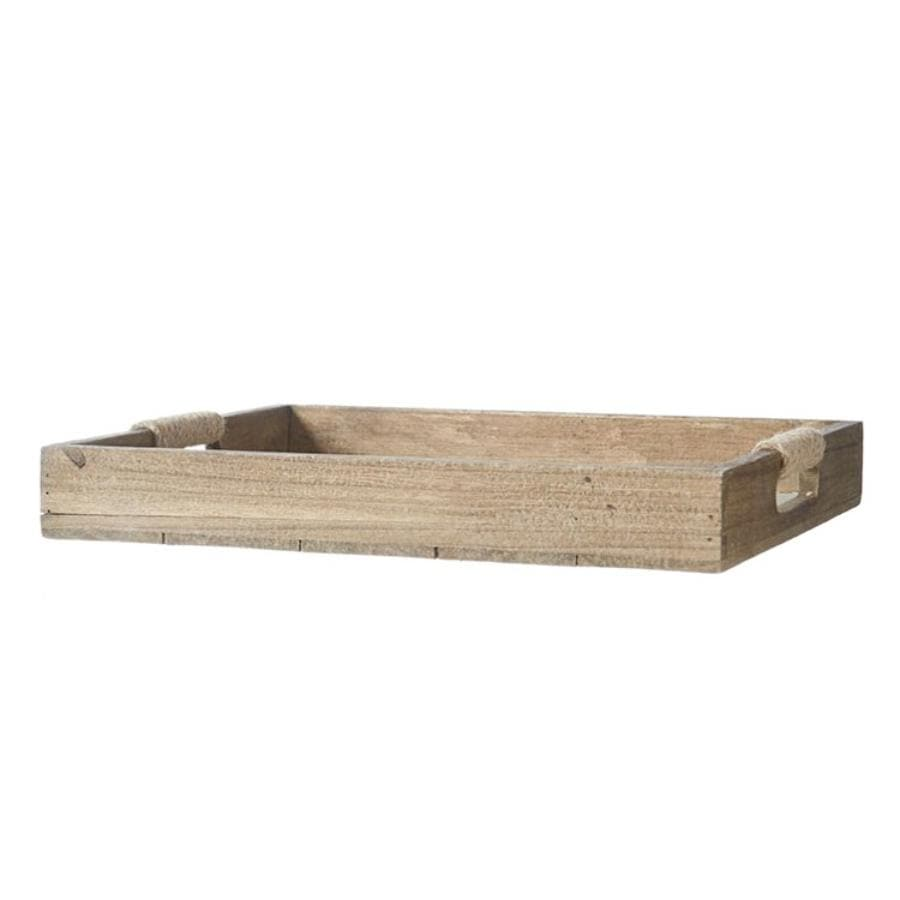 Wooden Coastal Serving Tray at the Farthing