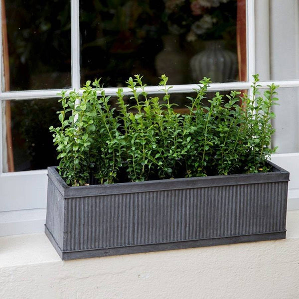 Victorian Vintage Vence Window Box Galvanised Fluted