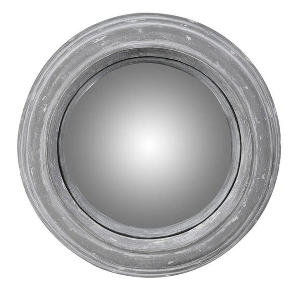 Distressed Grey Hampshire Round Mirror - small