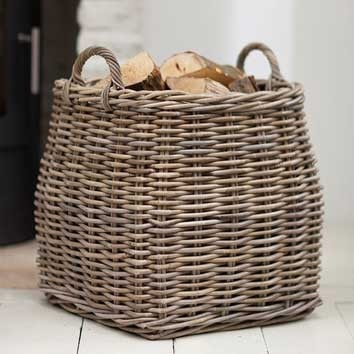 Tapered Square Rattan Basket - The Farthing