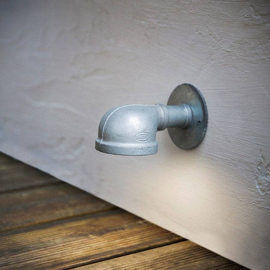 Exterior St Ives Galvanised Wall Mounted Path Light - The Farthing