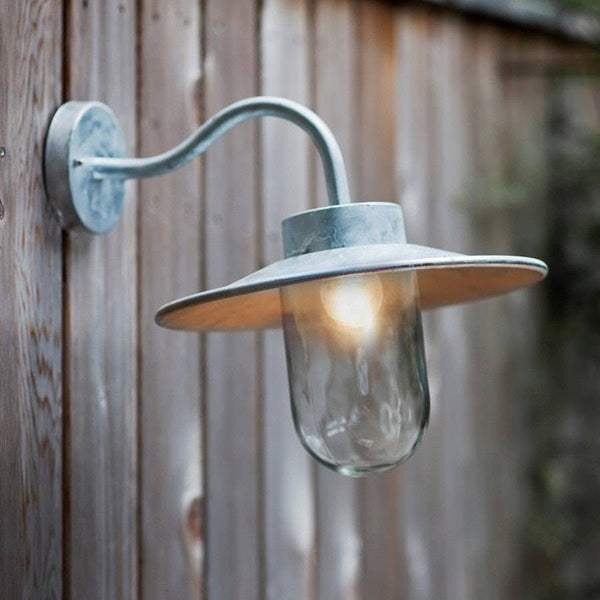 St Ives Swan Neck Wall Light Vintage Outdoor Lighting The Farthing