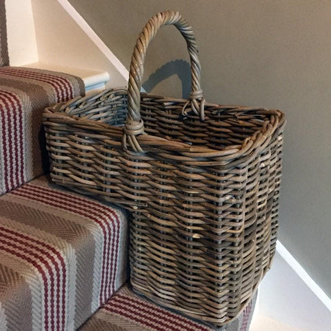 Rustic Rattan Stair Basket - The Farthing