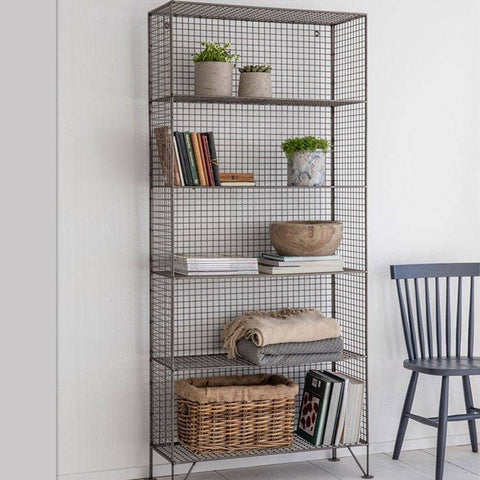 Industrial Tall Wire Mesh Shelving Unit Farthing