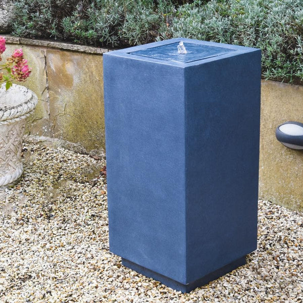 Tall Square Granite Effect Water Feature