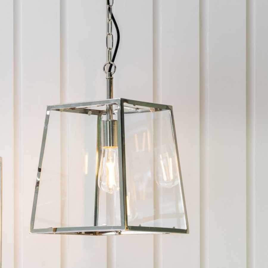 Nickel Trapeze Pendant Light