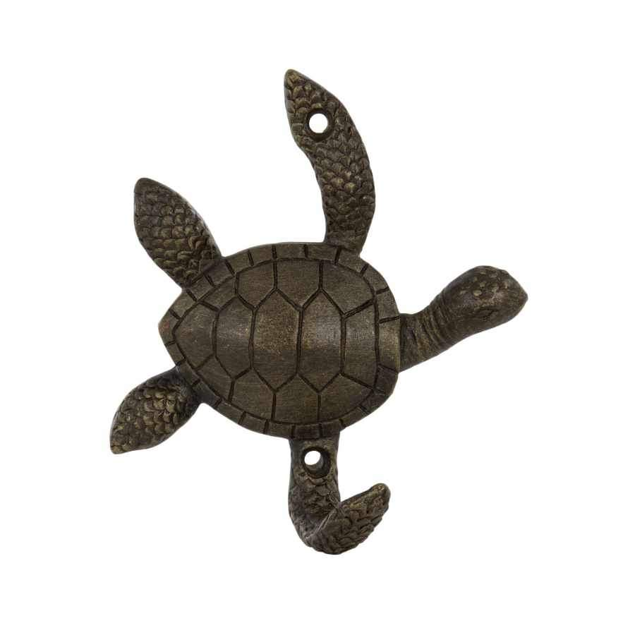 Burnished Bronze Turtle Door Hook