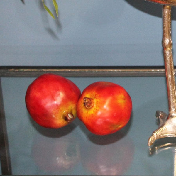 Two Decorative Faux Pomegranate