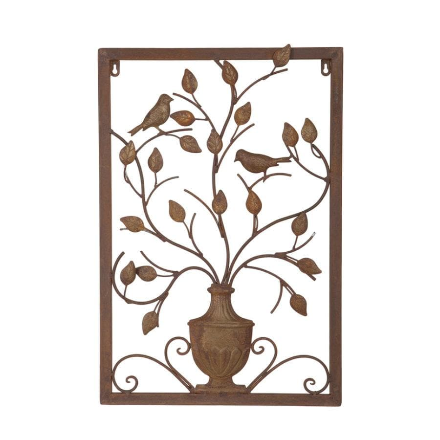 Garden Vase Metal Wall Art at the Farthing