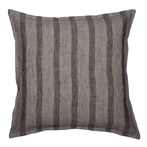 Grey Stripped Feather Cushion - The Farthing  - 2