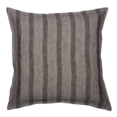 Square Vintage Grey Stripped Feather Cushion - The Farthing