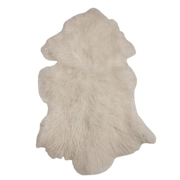 Curly Tibetan Sheepskin in Vintage Ivory - The Farthing  - 1