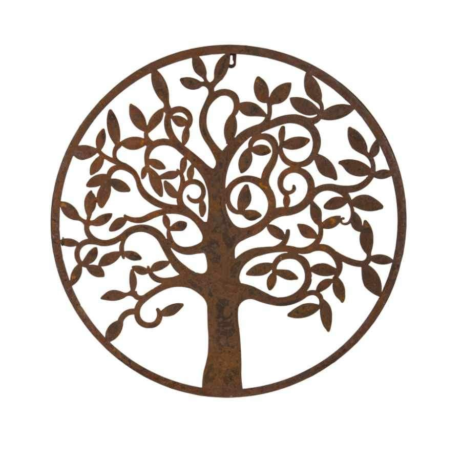 Rustic Metal Tree Wall Plaque - medium