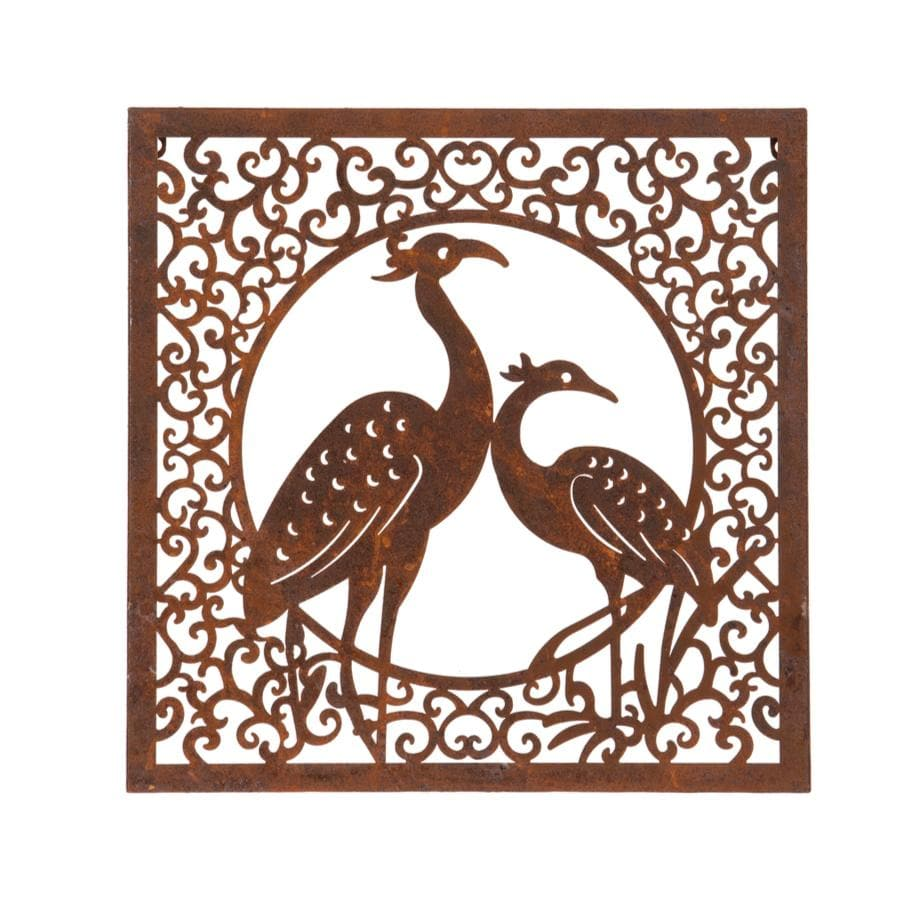 Rustic Metal Peacock Wall Art