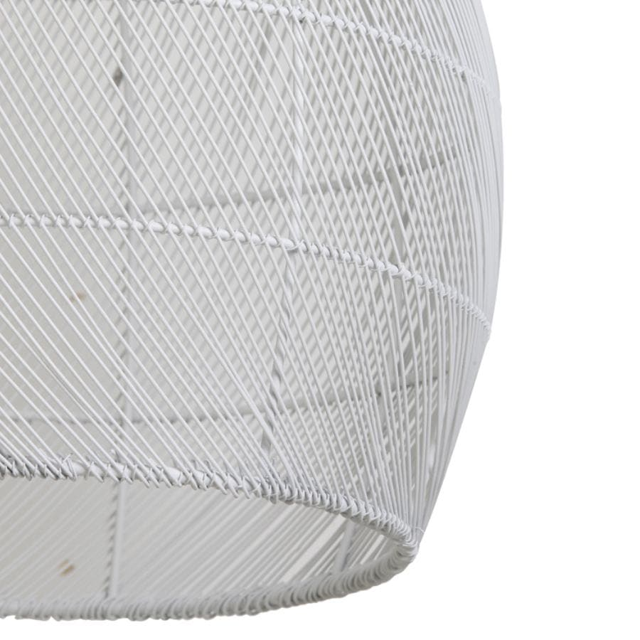 White Wire Dome Pendant Light at the Farthing