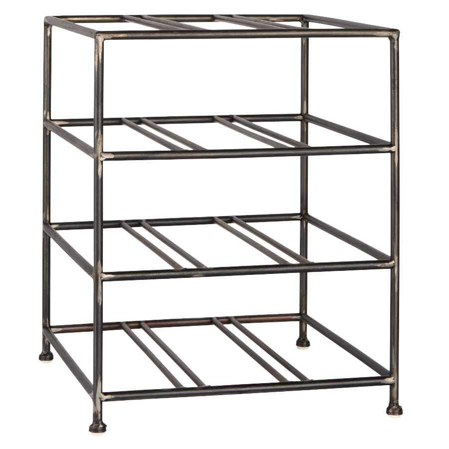 Industrial Table Top Steel Wine Rack