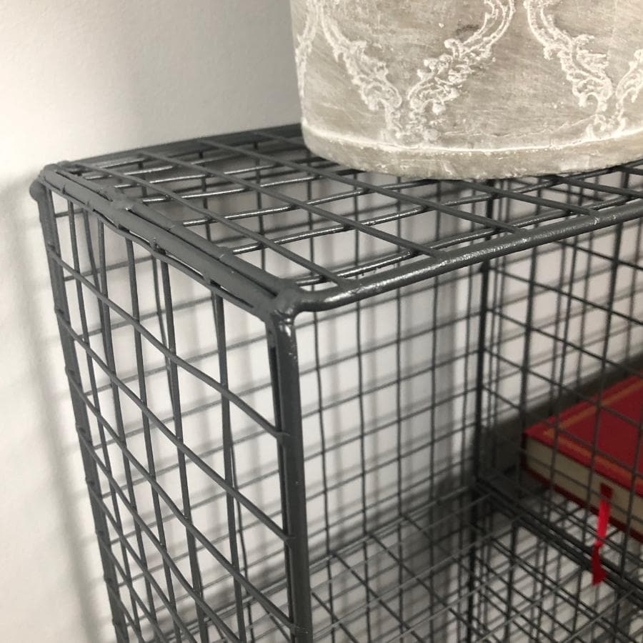Wire 6 Hole Shelf Unit - Charcoal Grey - The Farthing
