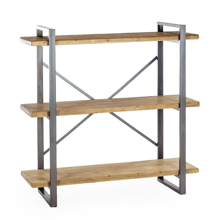 Rustic Loft Metal and Wood Shelf Unit at the Farthing