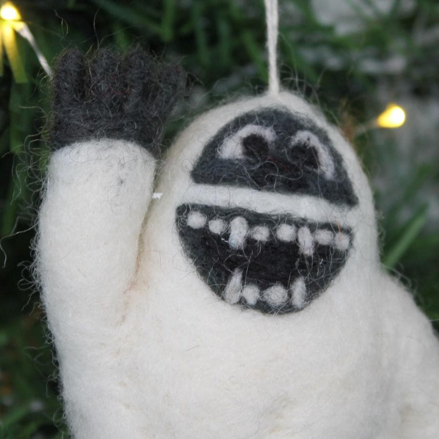 Christmas Felt Yeti at the Farthing 1