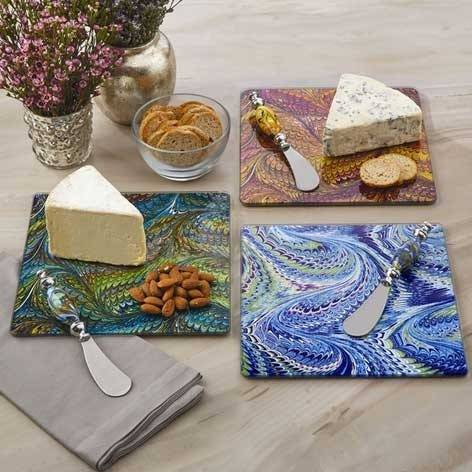 Marbleize Cheese Board Platter - The Farthing