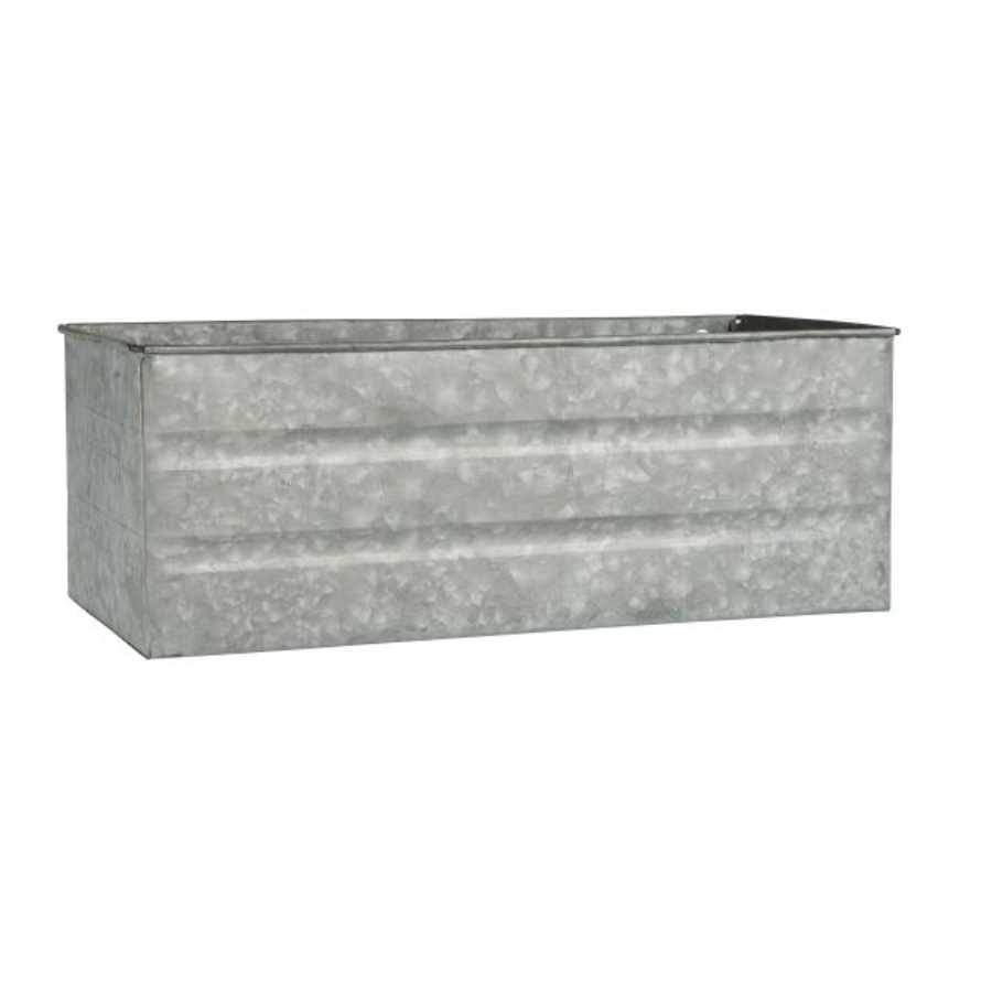 Rustic Rectangular Zinc Trough