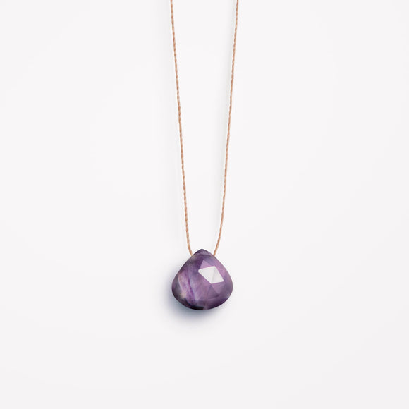 Fluorite Fine Cord Necklace