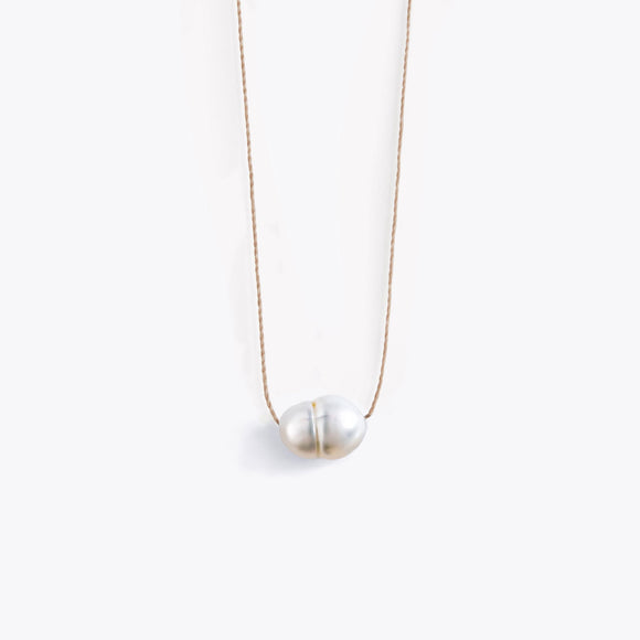 Pearl Fine Cord Necklace