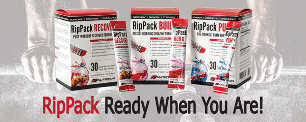 RP Nutrition Free Sample Packet of RipPack Workout Supplements